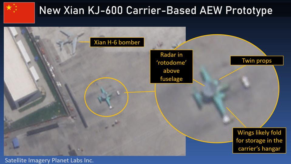 Chinese Navy prototype Xian KJ-600 AEW plane