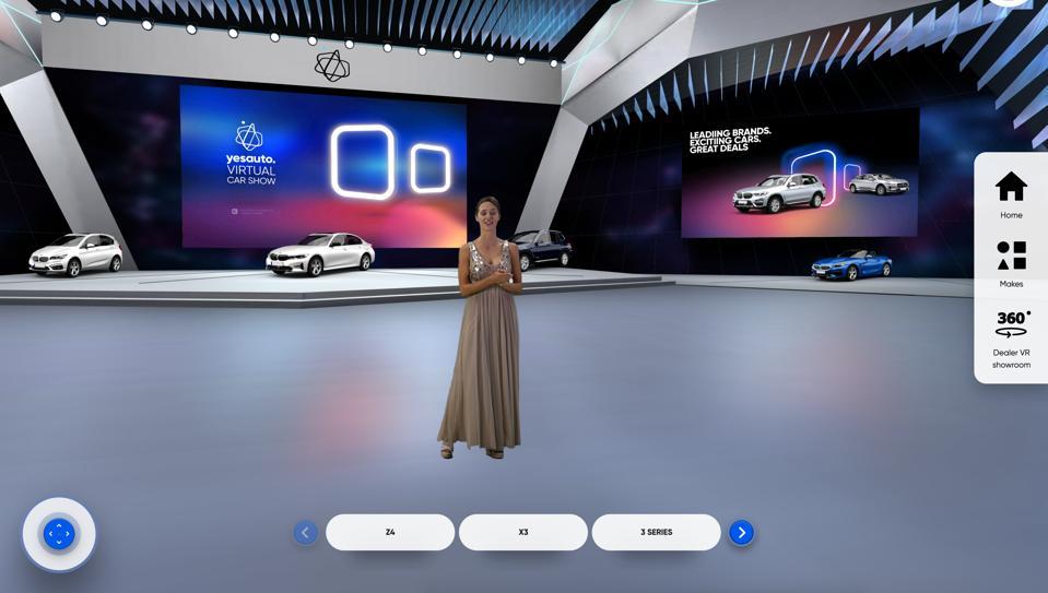 Screenshot of the 2020 UK YesAuto virtual car show