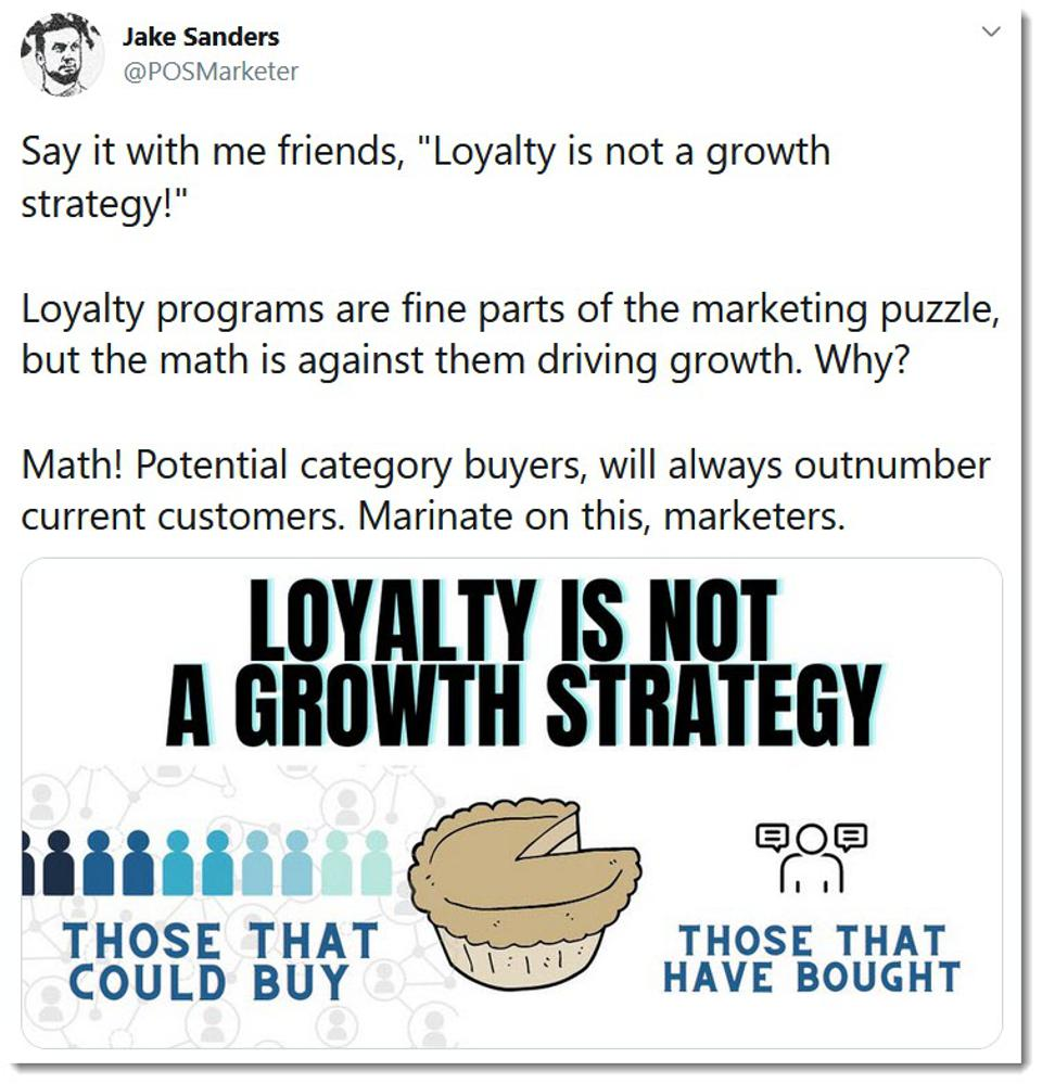 loyalty is not a growth strategy