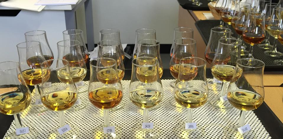 Whisky judging at the International Wines and Spirits Competition