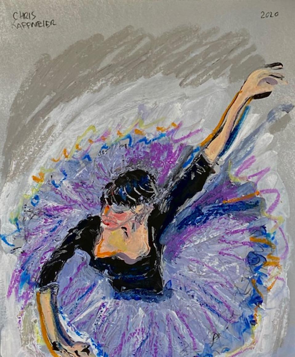Chris Kappmeier Studio, ballerina, art, Vincent van Gogh