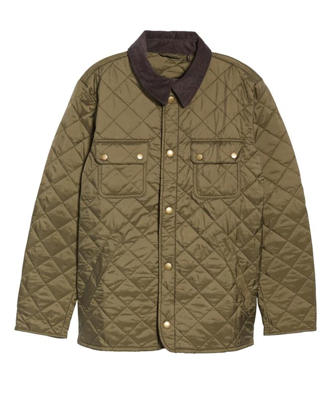 Quilted Tinford Barbour jacket in black