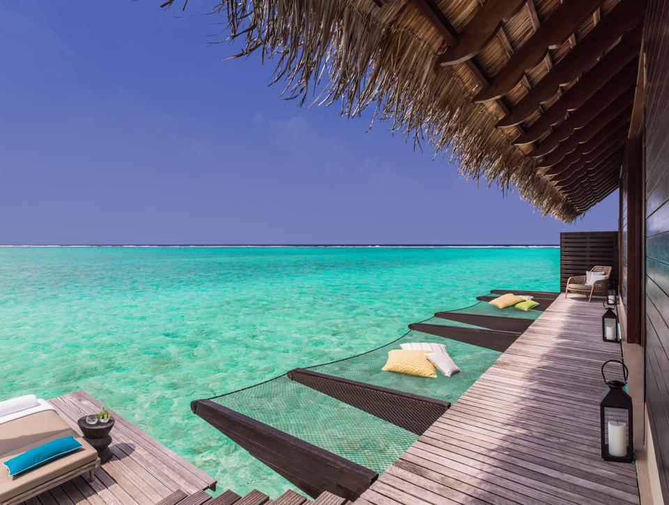 A villa with turquoise water
