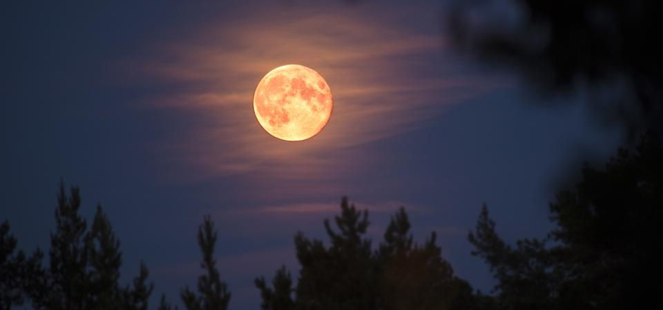 """The second of four """"supermoons"""" or """"perigee full Moons"""" of 2021, April's full Moon will appear about 6% larger than an average full Moon."""