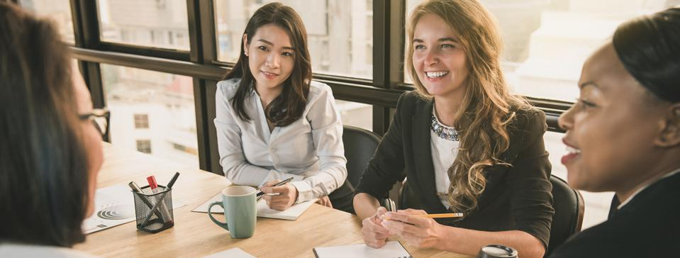 Diverse businesswoman leaders  in office meeting room