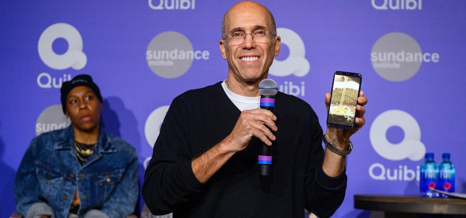 Quibi is competing with TikTok, and is led by Jeffrey Katzenberg, former Chairman of Disney Studios.
