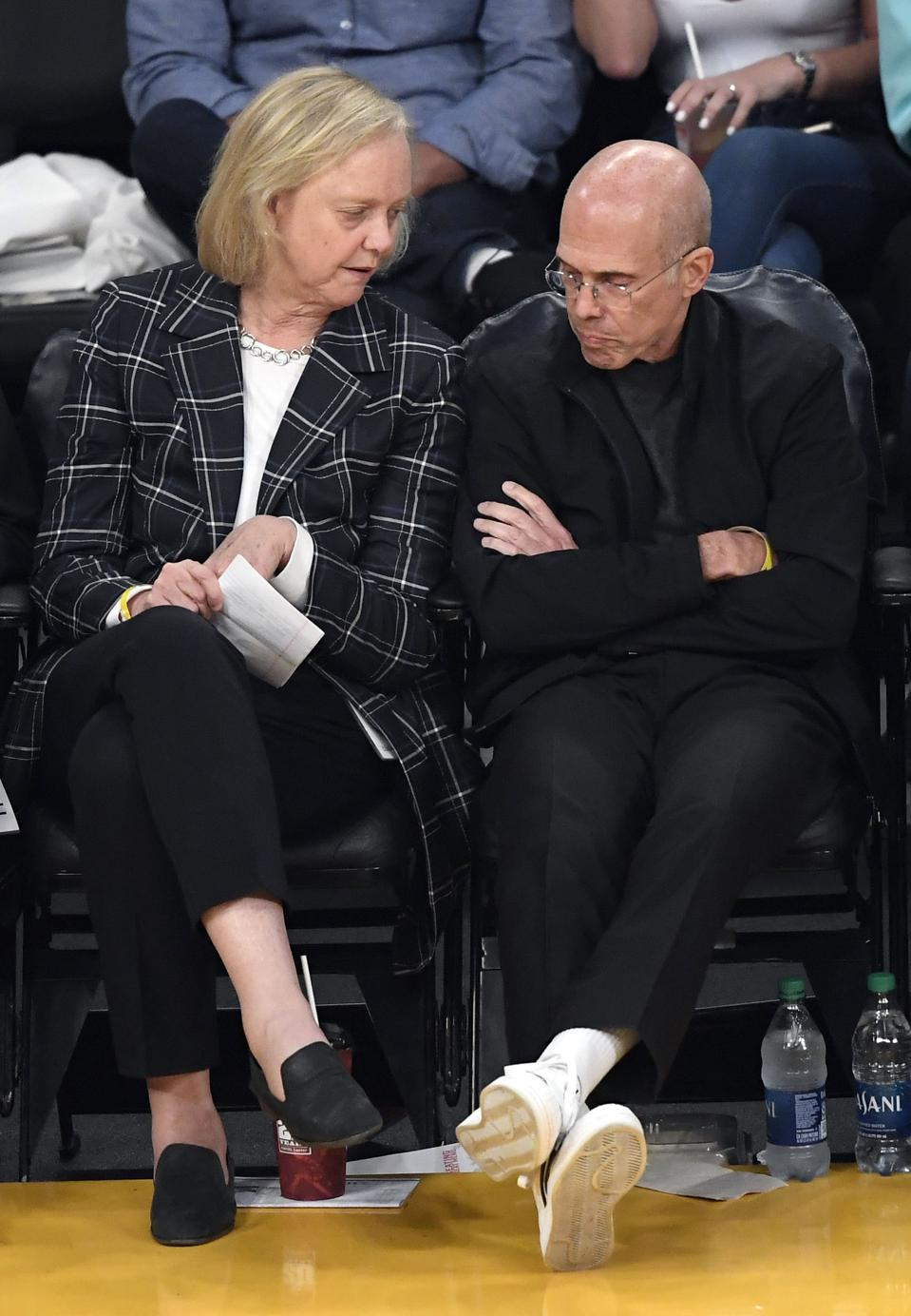 Meg Whitman, former CEO of eBay and former Republican nominee for Governor in California, sits alongside Jeffrey Katzenberg, the Founder of Quibi.