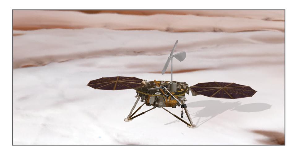 polar lander with wind turbine