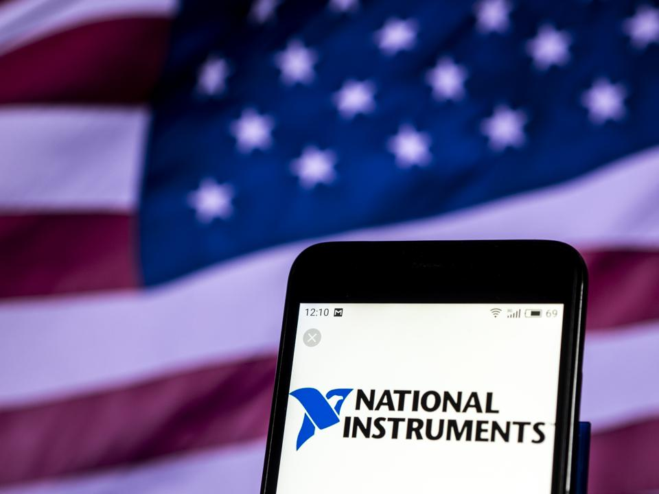 National Instruments Corporation logo seen displayed on