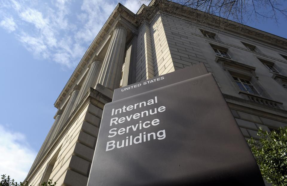 exterior of the Internal Revenue Service (IRS) building in Washington