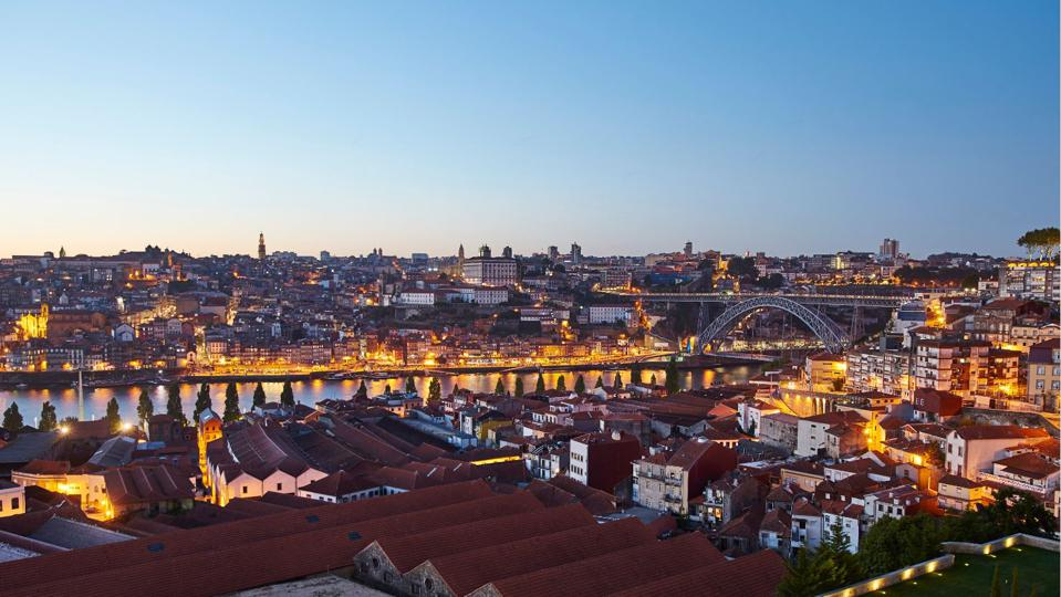 view of porto and the douro river in portugal