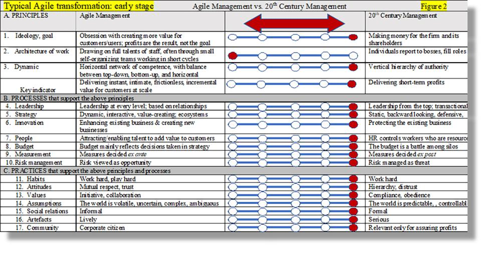 Agile transformation: early stage