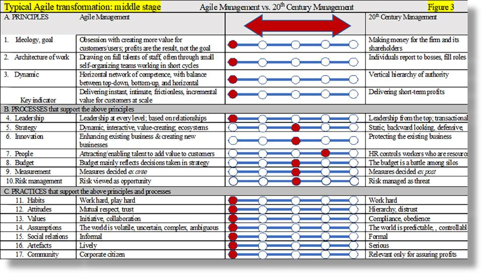 Middle stage Agile transformation