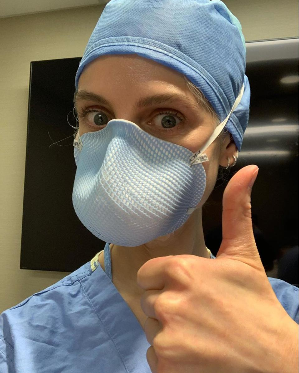 Alex Anderson M.D. ready for work as an anesthesiologist at the Mayo Clinic