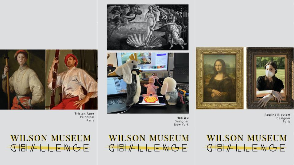 Wilson Associates staff were challenged to recreate a famous piece of art with items from around their home.