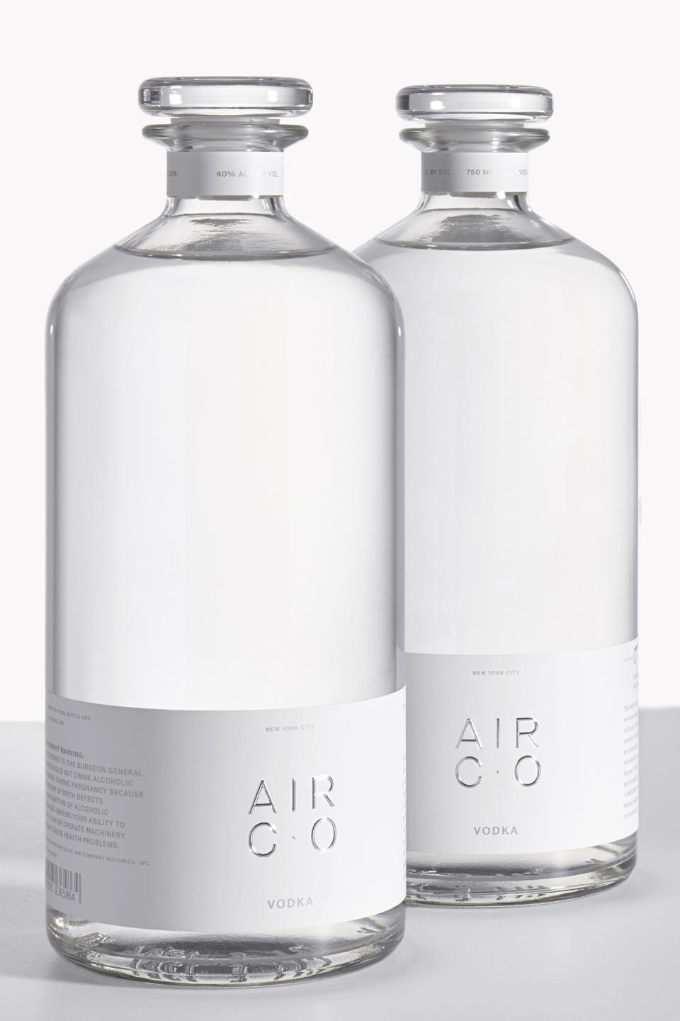 two bottles of air vodka from Air Company