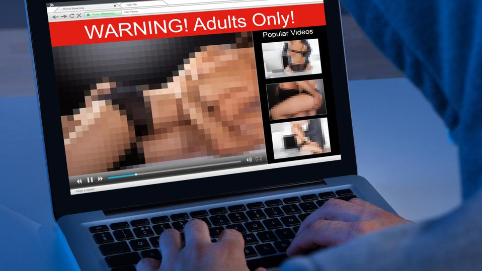 Person Watching Adult Movie On Laptop