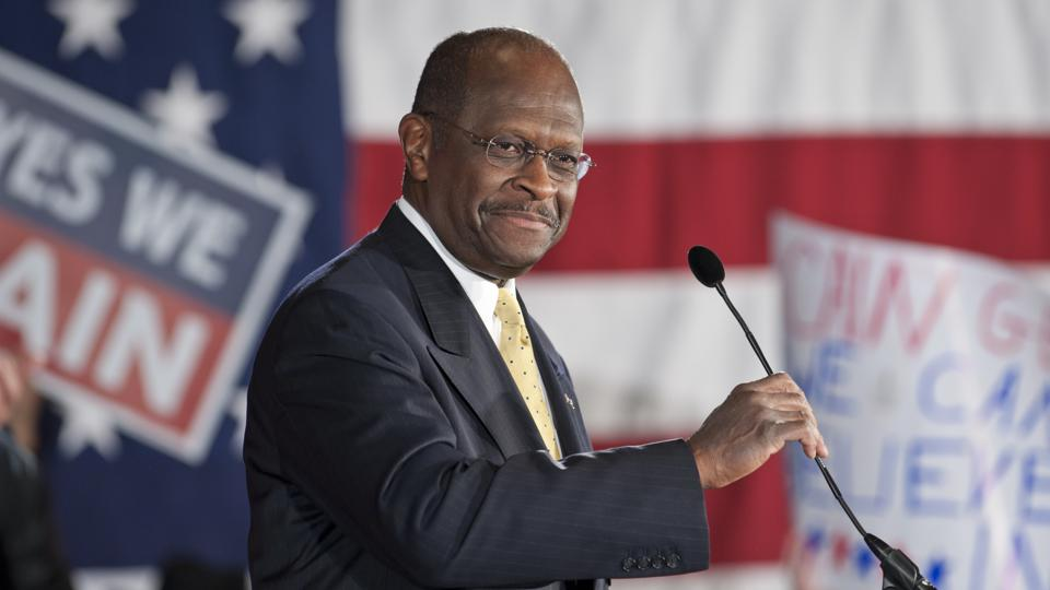 USA - 2012 Election - Herman Cain Holds Rally in New Hampshire