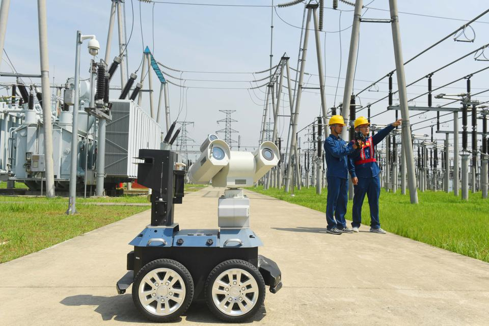 Intelligent Robot On Patrol Inspection At High-voltage Substation