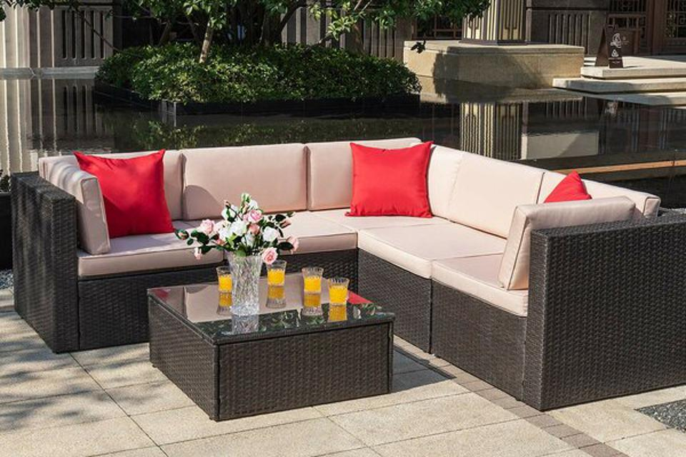 Braydon Studio Chesterle 6 Piece Sectional Seating Group with Cushions