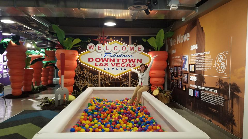 Luciana Paulise visits Zappos Headquarters in Las Vegas