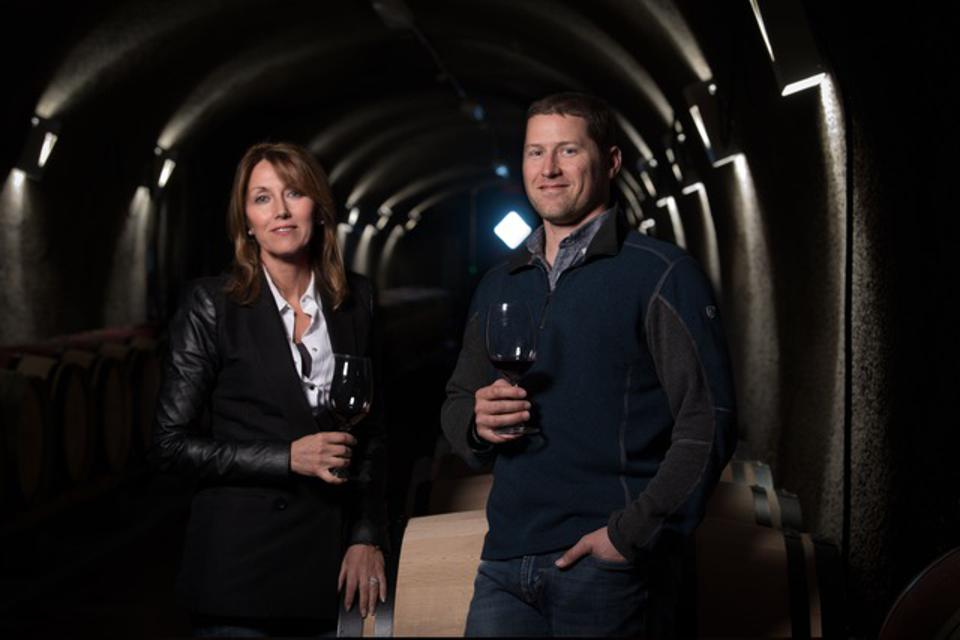 VIADER founder and proprietor Delia Viader and her son Adam, Head Winemaker.