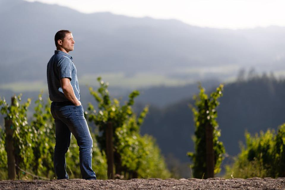 Winemaker and viticulturist Alan Viader in his Howell Mountain vineyards.