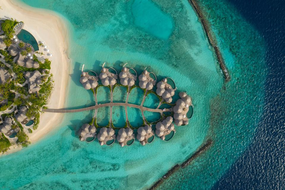 Topical shot of The Nautilus Maldives guest houses