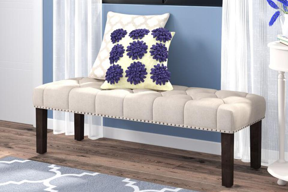 Three Posts Almaraz Upholstered Bench