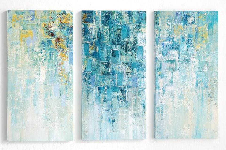 Mercury Row 'I Love the Rain' - 3 Piece Wrapped Canvas Set