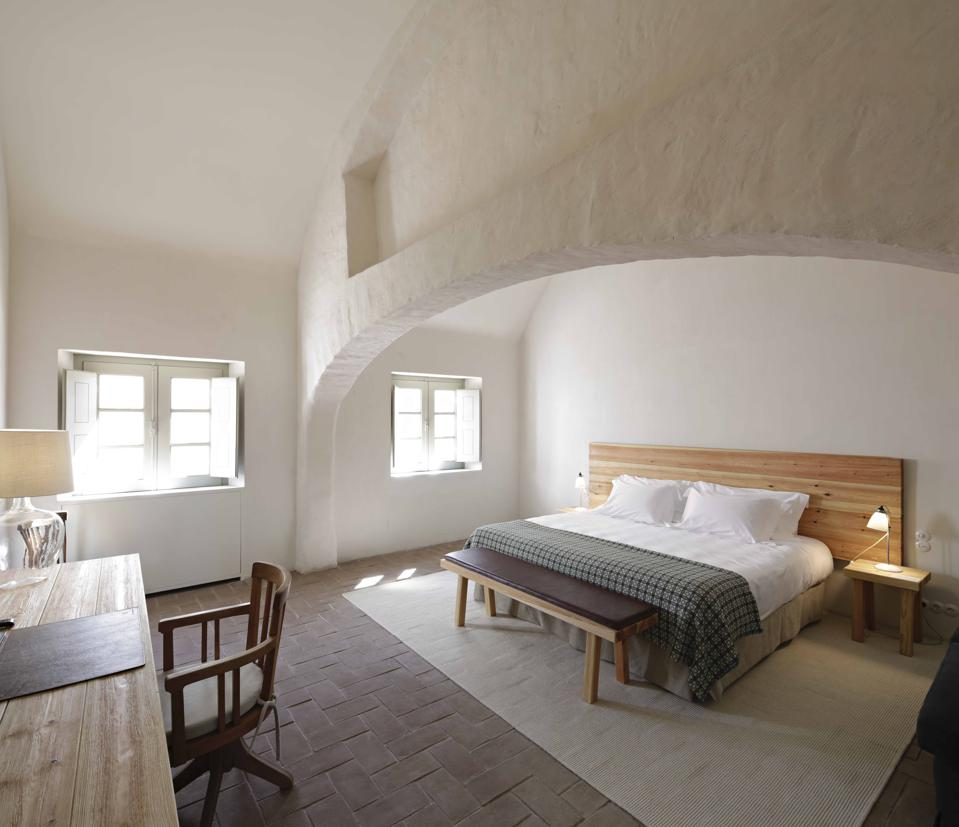 The barns at São Lourenço do Barrocal in the Alentejo have been turned into hotel rooms.