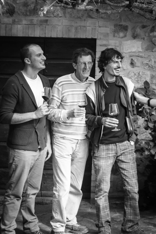 Francesco Buffi (left), Pietro Buffi (center) and Federico Buffi