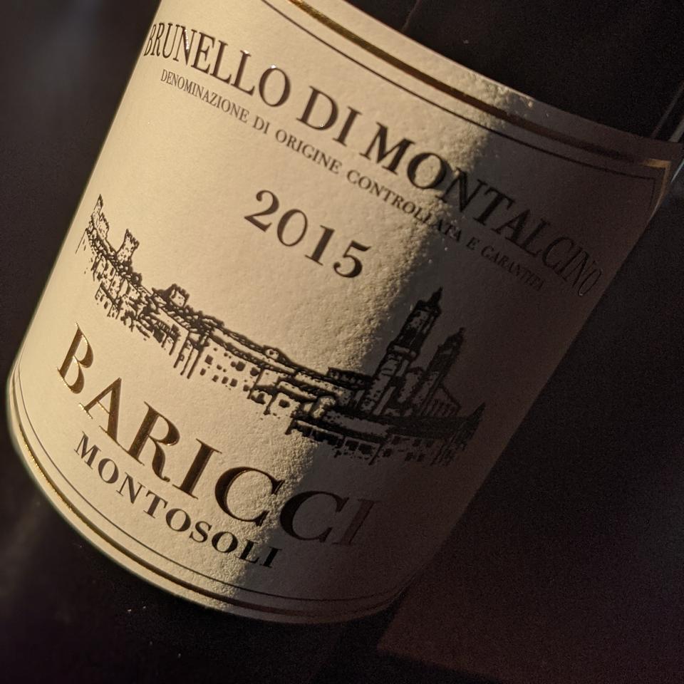 2015 Baricci, Brunello di Montalcino