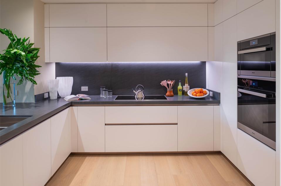 Poltrona Frau, Palazzo Della Luna, Miami, Fisher Island, leather, Italian, BOFFI kitchen, interior design