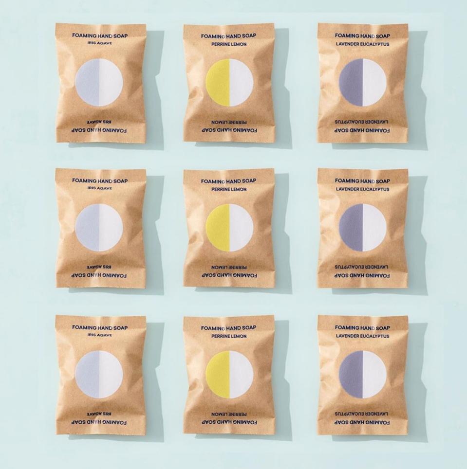 soap tablets, plastic-free packaging, lavender, soap