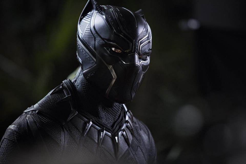 Black Panther in his vibranium suit.