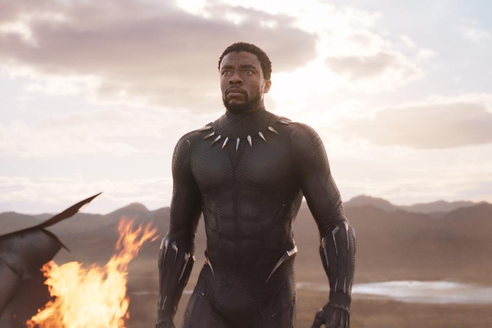 T'Challa (Chadwick Boseman) in 'Black Panther'.