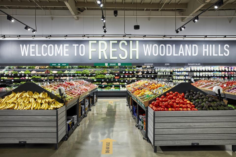 Amazon's New Grocery Store, Amazon Fresh, in Woodland Hills, CA