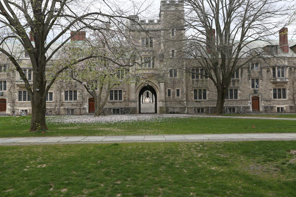 A view of Princeton University's empty campus amid the coronavirus outbreak on April 9, 2020. Tuition at the Ivy League school for the 2019-2020 academic year was $52,800. (Marcus DiPaola/Zenger)
