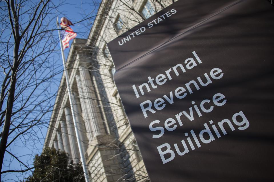 The Internal Revenue Service (IRS) building is seen in Washington, D.C. on February 19, 2014. (JIM WATSON/AFP via Getty Images)