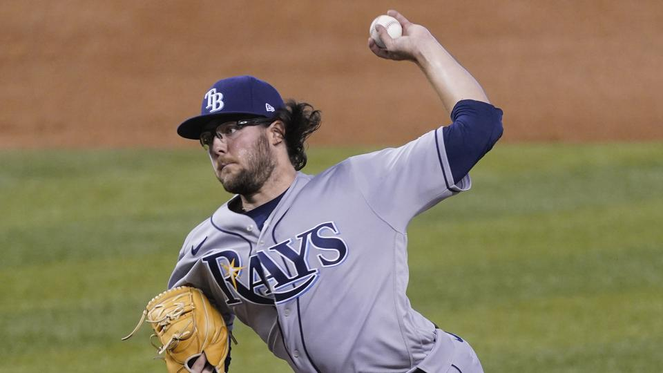 Tampa Bay Rays pitcher Josh Fleming delivers against the Miami Marlins.