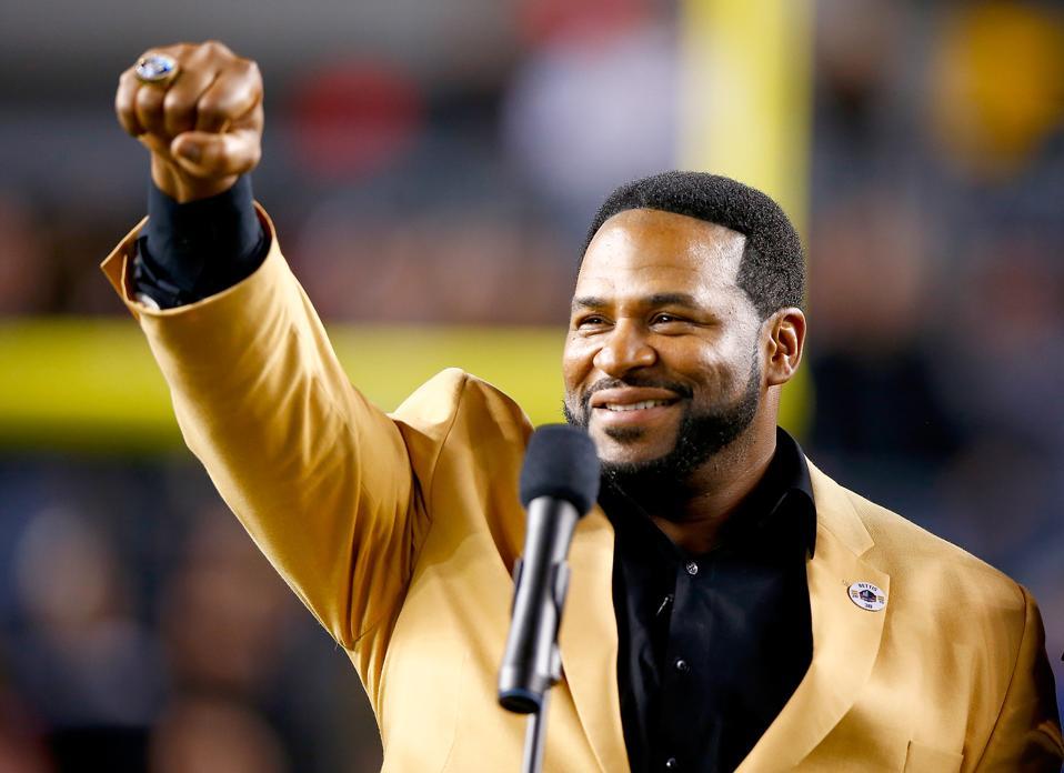 Hall of Famer Jerome Bettis at Baltimore Ravens v Pittsburgh Steelers