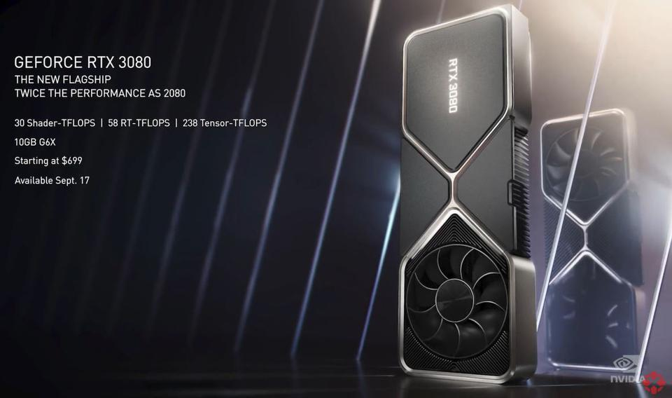 Nvidia's RTX 3080 specifications include 10GB GDDR6X memory and will cost $699 at launch
