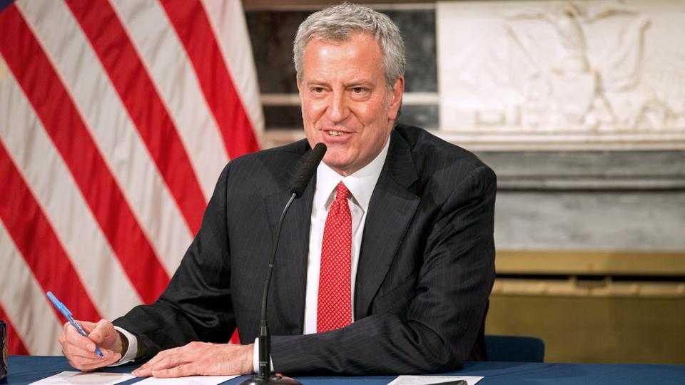 New York Mayor Bill De Blasio Holds Press Conference On Coronavirus Response