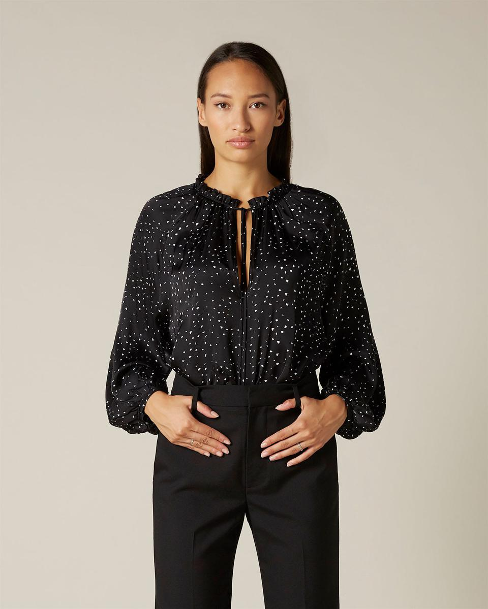 Blouse Viscose Jacquard Ditsy by 7 For All Mankind