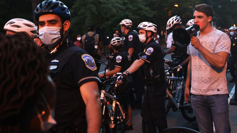 Protests Held In Washington, DC In Response To Republican National Convention