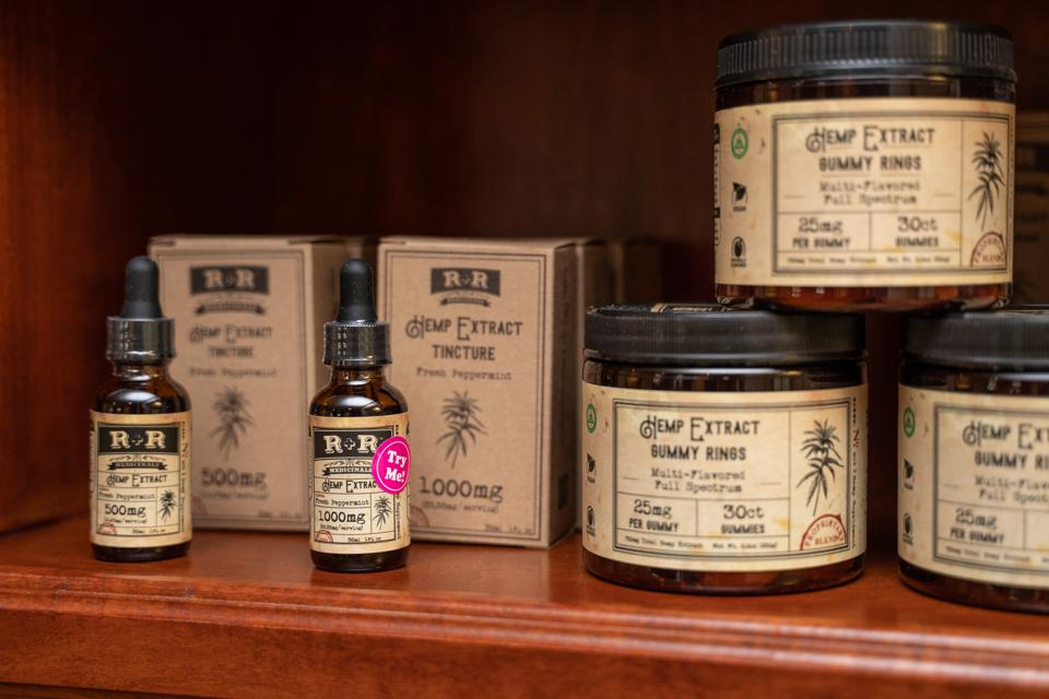 CBD Oil CBD Products In Retail Store
