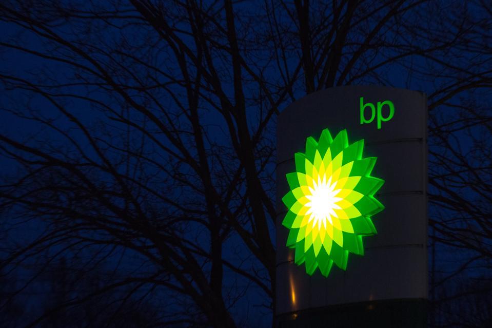 BP petrol station logo...