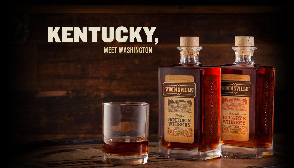 Woodinville Bourbon and 100% Rye Whiskeys