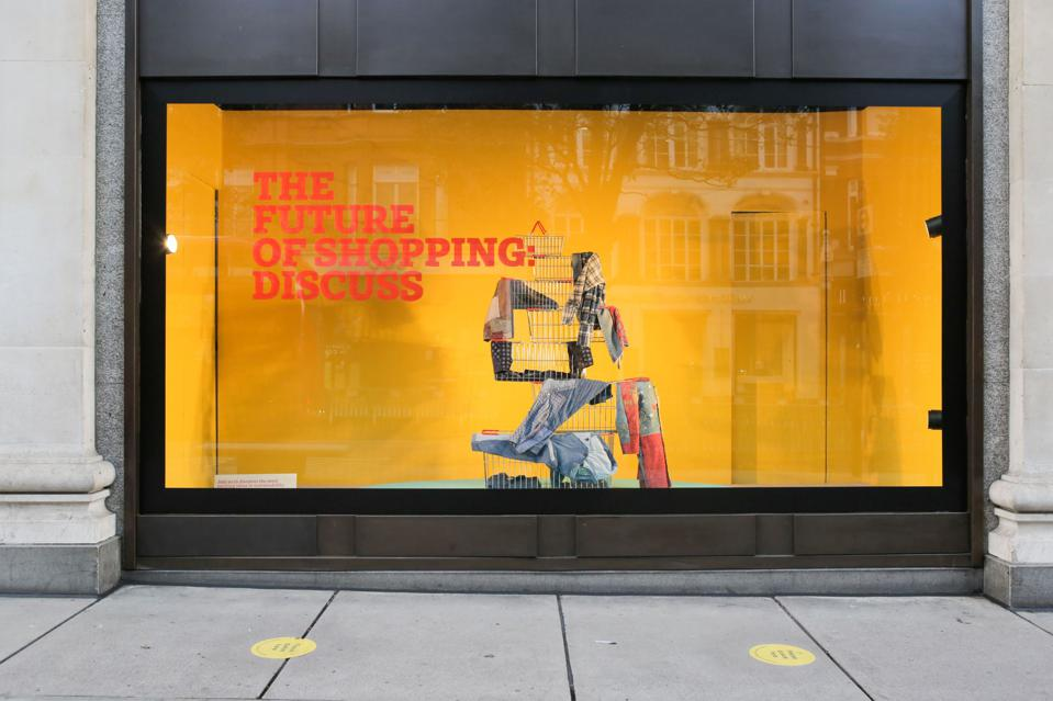 Shopfront for Selfridges promoting Project Earth